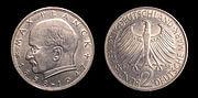 Max Planck two Deutsche Mark coin
