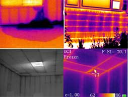 various parts of infrared building inspection